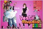 Juego  gloria dress up vestir a gloria