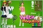Juego  clara tennis dress up vestir a clara