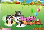 Juego  cute pet wedding dress up pareja de perros