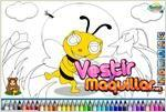 honeybee coloring abeja para colorear