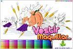 Juego  autumn harvest coloring cosecha de otoño