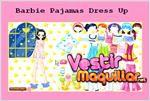 Juego  barbie pajamas dress up los pijamas de barbie