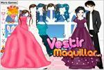 Juego  bride and bridegroom dress up vestido de novia