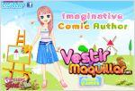 Juego  imaginative comic author. vestida para pintar