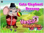 Juego cute elephant dressup. viste al elefante
