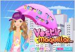 Juego  umbrella time dress up. vestida para la lluvia