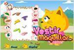 Juego  little meowny dress up vestir al gatito