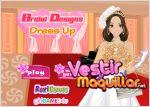 Juego  bridal designs dress up. vestida de boda
