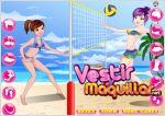 Juego  cute girls volleyball dress up. vestida para el volleyball