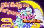 Juego  girl living on the moon. viviendo en la luna