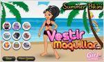 Juego  summer bikini. vestida de playa