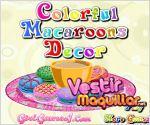 Juego  colorful macaroons decorating. decora los macaroons
