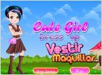 Juego  cute girl dress up. vestida de campo