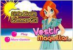 Juego  little bloom summer girl. vestida de verano