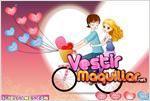 Juego admirable bicycle lovers enamorados en bicicleta