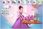 Juego  princess prom dress up vestir para el baile
