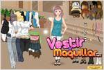 Juego  casual fashion girl dress up look casual