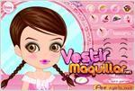Juego  cute girl make up bella niña