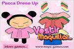 Juego  pucca dress up vestir a pucca