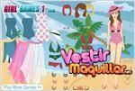 Juego  tropical girl dress up look tropical