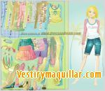Juego  sara dress up vestir a sara