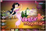 Juego  jasmine princess dress up vestir a la princesa jasmine
