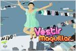 Juego  lets fly up above muchacha feliz